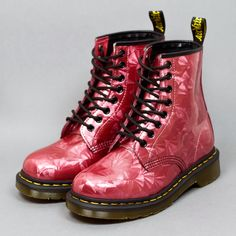 Dr. Martens 8 Eye 1460 Boots - Ruby Jewel