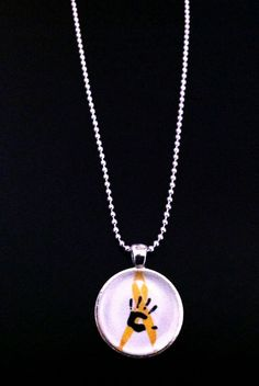 Childhood Cancer Awareness Necklace for Bryson's by CapsForCauses, $15.00