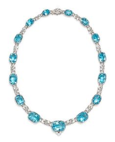 1f0a93bbd An Important Platinum, Aquamarine and Diamond Necklace, Tiffany & Co.,  Circa