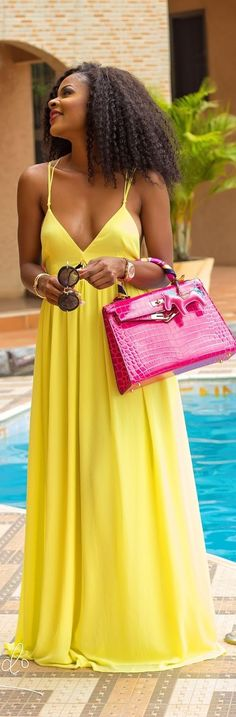 Yellow Maxi / Fashion By Style By Trey