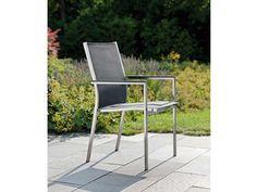 Stern Gartensessel Cardiff Edelstahl Textil schwarz Aluminiumarmlehnen kaufen im borono Online Shop