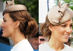 Kate Middleton Updo with Hat