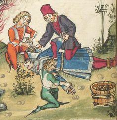 Ms. germ. qu. 12 - Die sieben weisen Meister SchreiberHans <Dirmstein> ErschienenFrankfurt, 1471 Folio 63v