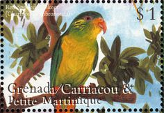 Red-fronted Lorikeet stamps - mainly images - gallery format