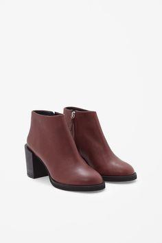 COS Block heel leather boots
