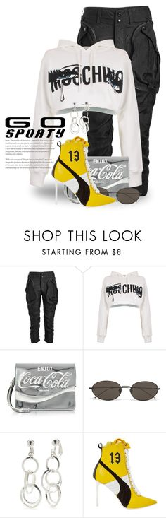 """Sets With Numbers 5322"" by boxthoughts ❤ liked on Polyvore featuring Faith Connexion, Moschino, Pinko, Ann Demeulemeester, Kim Rogers and Puma"
