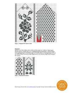 Knitted Mittens Pattern, Knit Mittens, Knitted Gloves, Knitting Charts, Knitting Patterns Free, Stitch Patterns, Knit Art, Fingerless Mitts, Wrist Warmers