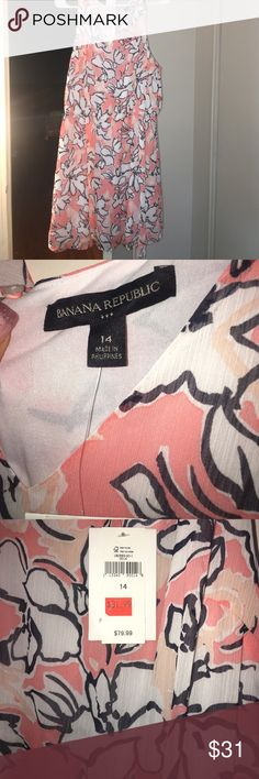 ❤️Valentines Special❤️ Banana Republic NWT Floral chiffon dress coral. Size 14 Banana Republic Banana Republic Dresses