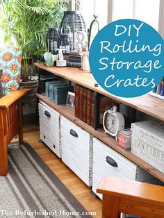 Build your own custom rolling storage crates. The Refurbished Home.com