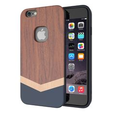 [€6.95] SLiCOO Nature Series for iPhone 6 & 6s Rose Wood + TPU Protective Case(Coffee)