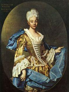Ritratto della nobildonna Elisabetta Piavani Guidotti; Vittore Ghislandi Fra Galgario; olio su tela; ritratto; 1725; Accademia di Carrara, Bergamo, Italia.
