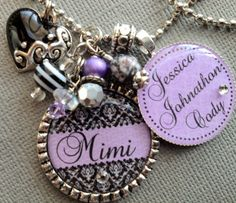 Mom Necklace -Personalized Children's Names-- Purse Clip, Mimi, Grandma, Nana, Grammi, Aunt, Mother's day gift, Keychain, Rhinestone