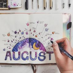 Do you notice how all the SPACE movies tend to be in all-caps? I'm not sure why either, I think it's because the font looks more… Monthly Bullet Journal Layout, Bullet Journal Notebook, Bullet Journal Themes, Bullet Journal Spread, Bullet Journal Inspiration, Planner Journal, Bullet Journal How To Start A Layout, Journal Ideas, Bullet Journal 2019