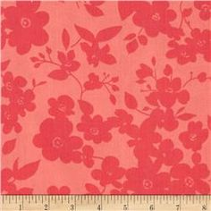 """108"""" Wide Quilt Back Daisies Coral"""