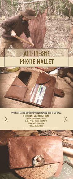 Ethical Kangaroo Phone Wallets Hand Tanned and Crafted from the Bush Here in Australia Using All Natural Ingredients.