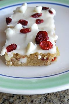 cranberry bliss bars! Hope these are as good as Starbucks!
