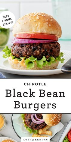 The BEST black bean burger recipe! This 30-minute black bean burger recipe is SO easy to make, and the hearty patties are packed with bold, smoky flavor. Perfect for a summer cookout or a quick weeknight dinner! | Love and Lemons #burger #veggieburger #vegetarian #dinnerideas #grillingrecipes Burger Recipes, Grilling Recipes, Vegetarian Recipes, Healthy Recipes, Vegetarian Grilling, Healthy Grilling, Barbecue Recipes, Barbecue Sauce, Vegetarian Dinners