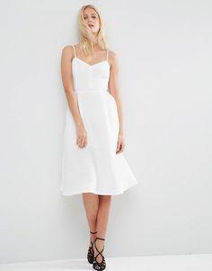 Image 1 ofASOS Ribbed Strappy Prom Dress