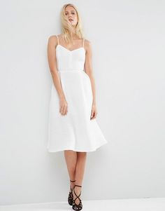 Image 1 of ASOS Ribbed Strappy Prom Dress