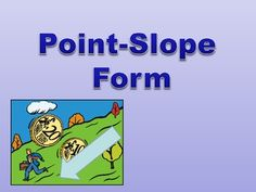 Find the equation of straight line with slope and one point given.