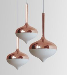 Evie Group Spun Lamps - Rose Gold - would be great for statement lighting