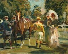 View A park meeting by Sir Alfred Munnings on artnet. Browse upcoming and past auction lots by Sir Alfred Munnings. Horse Drawings, Animal Drawings, Drawing Animals, Cow Art, Horse Art, Horse Running Drawing, Alfred Munnings, Courses Hippiques, Horse Posters