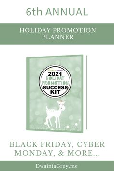 The 2021 Holiday Promotion Success Kit is the ultimate planner to capture holiday sales.6th ANNUAL - REVISED AND UPDATED FOR 2021 WITH NEW PAGES AND MORE HOLIDAY PROMO IDEASUse this 4th Quarter Planner to plan your custom holiday promotions as well as Christmas, Thanksgiving, Black Friday, Cyber Monday, Giving Tuesday, and more. #cybermonday Buy Now! Social Media Cheat Sheet, Budget Template, Holiday Sales, Cyber Monday, Marketing And Advertising, Black Friday, Tuesday, Promotion, Blogging