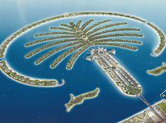 Palm Jumeriah artificial island Dubai