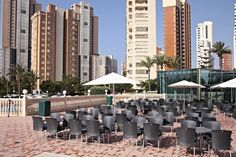 Marconfort #Benidorm Suites. Swimming Pool terrace - 70's 80's & 90's music themed hotel www.marconfort.com