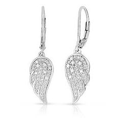 1 10 Cttw Diamond Angel Wing Earrings
