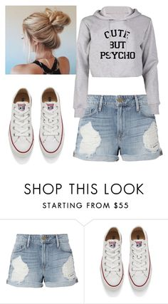 """""""Untitled #29"""" by ioana-lorena on Polyvore featuring Frame and Converse"""