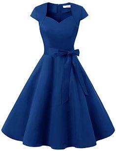 Dressystar DS1955 Women Vintage 1950s Swing Cap Sleeevs P...