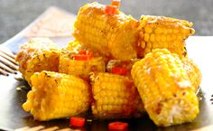 "Chakalaka Corn Cobs: Everyone's favourite, with a ""touch of Africa"" flavour."
