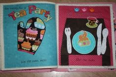 Tea Party Busy Book page
