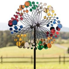 Wind Spinners For The Garden Outdoor Yard Spinner Colorful Alfresco Decor Metal #PlowHearth
