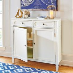 This table is traditional in style, space saving, and sleek. Perfect for an entryway or the area next to your stairwell.