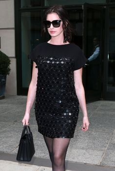 Anne Hathaway is seen on September 22, 2015 in New York City.