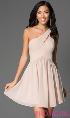 Full Length One Shoulder Chiffon DressLN-MG544 | Dress | Pinterest ...