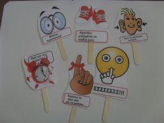 ...Το Νηπιαγωγείο μ' αρέσει πιο πολύ.: Παίξαμε με τους κανόνες της τάξης μας. Classroom Rules, Preschool Classroom, Classroom Decor, Kindergarten, Autumn Leaves Craft, Class Rules, 1st Day Of School, Class Decoration, School Themes