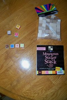 Make your own letter cubes! So much prettier than store bought ones!