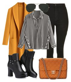 """""""Bez naslova #2461"""" by defneveomer ❤ liked on Polyvore featuring Topshop, Ray-Ban and Chanel"""