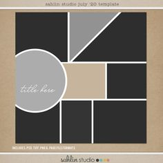 FREE Digital Scrapbooking Template / Sketch | July '20