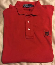 Polo Ralph Lauren Golf Shirt Men's Size Medium #Vintage Polo Golf Club Logo USED  #PoloRalphLauren #PoloRugby #PoloGolf #Polo #RalphLauren #RL #jloutletdeals #fashion #eBay #designer