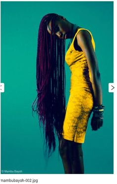 Really long box braids