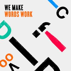 We make words work Word Work, Symbols, Letters, Words, Movie Posters, How To Make, Film Poster, Icons, Letter