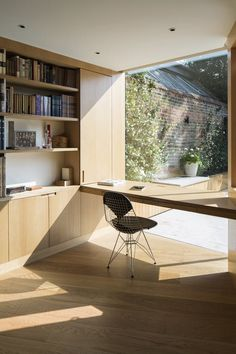 Reading Room by Studio Carver Tagged: Office, Light Hardwood Floor, Desk, Chair, and Shelves. Photo 5 of 6 in 6 Ways to Turn Your Home Office Into a Distraction-Free Zone from The Reading Room Home Office Space, Home Office Design, Home Office Furniture, Home Office Decor, Home Interior Design, Home Decor, Small Office, Office Ideas, Office Designs