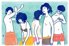 By Nimura Daisuke Art And Illustration, People Illustration, Illustrations And Posters, Character Illustration, Graphic Design Illustration, Fanart, Doodle Designs, Human Art, Oeuvre D'art