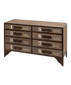 Look what I found on #zulily! 30'' Wood Numbered Dresser #zulilyfinds