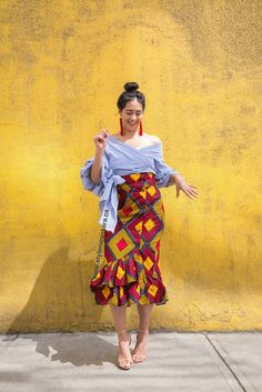 La Havana Ruffle Skirt www.stylemeankara.ca #Africanfashion #ankaraskirt #ankaraprint