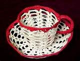 free crochet cup and saucer pattern - Yahoo Image Search Results Free Crochet Doily Patterns, Annie's Crochet, Crochet Leaves, Crochet Cardigan, Thread Crochet, Crochet Gifts, Crochet Doilies, Cup And Saucer, Crochet Projects